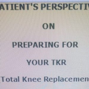 Partial Cover of TKR Pre-Op Ebook